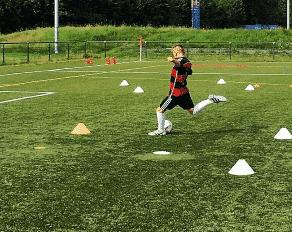 Schußtraining im Fußballcamp