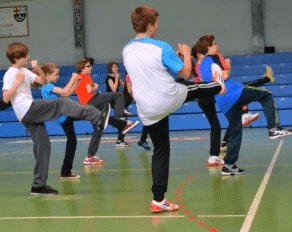 Kinder beim Taekwondo