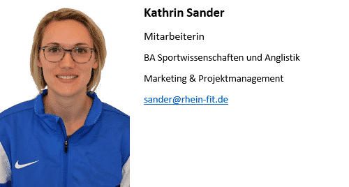 RheinFit Mitarbeiterin Sander